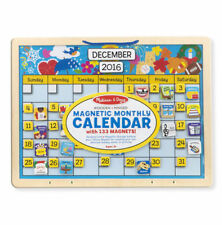 Melissa and Doug Magnetic Monthly Calendar # 5058 New