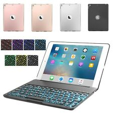 For iPad 5th/6th/7th Gen Air1/2 Pro Backlit Bluetooth Keyboard Folio Stand Case