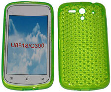 Pattern Soft Gel Case Protector Cover Green For Huawei Ascend U8818 U8815 G300
