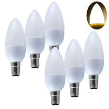 Pack of 6  B15 SBC SMD LED Candle Light Bulbs Spotlight Warm White Lamp Bulb UK