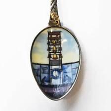 Andenkenlöffel Silber 800 emailliert Glockenturm Uhrenmuseum Wuppertal