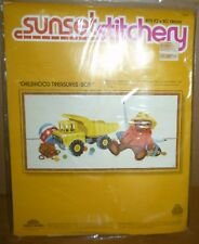 "Sunset Stitchery CHILDHOOD TREASURES (BOY) 10"" X 20"" Needlepoint Kit"