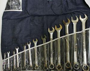 "Craftsman Forged Made in USA Combination Wrench Set 13pc SAE 1/4""-1"" 6-pt"