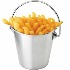 More details for mini chip bucket stainless steel strong quality food presentation flower hanging
