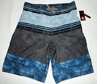 NEW MENS SIZE XL GREY AIRWALK STRETCH BOARD SHORTS SWIM SUIT TRUNKS M7463MM2