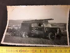 Ancienne photo Centre de Secours Chabons Isère sapeurs pompiers camion incendie