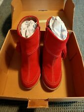 Joe Browns Red Suede Ankle Boots UK5