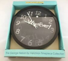 """George Nelson By Verichron WhatEver! Lenticular Face Black Wall Clock 10"""""""