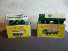 Matchbox Lesney #32 Leyland Petrol Tanker & #61b Alvis Stalwart BP Exploration 3