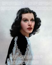 HEDY LAMARR WEARING A BEADED DRESS (#2) BEAUTIFUL COLOR PHOTO BY CHIP SPRINGER