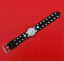 Silver Coin Genuine Studded Leather Bracelet Us 1956 Franklin Half Dollar 90%