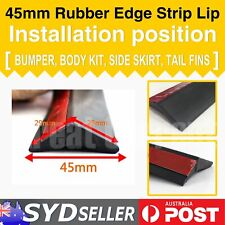 45mm Front Bumper Lip Spoiler Rubber Seal Strip Edge Trim Protect Adhesive  2.5M