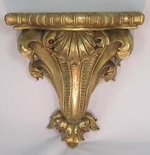 Wandkonsole Barock Jugendstil Gold Holz Optik Wandregal Konsole Antik Ablage