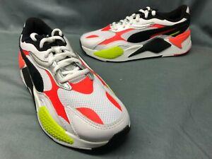 Puma Men's RS-X3 Lava Blast Running Sneakers Mesh White Black Red Size 9 NWOB!