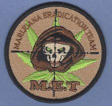 DEA DRUG ENFORCEMENT ADMINISTRATION MARIJUANA ERADICATION TEAM POLICE PATCH