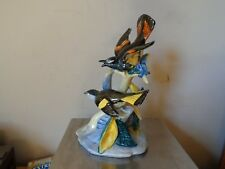 Vintage Stangl Pottery Birds #3490 Double Redstarts Hand Painted Bird Figure