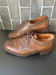Mens Vintage LOAKE Tan Brown Leather Brogues Lace Up Size UK 6 EU 40