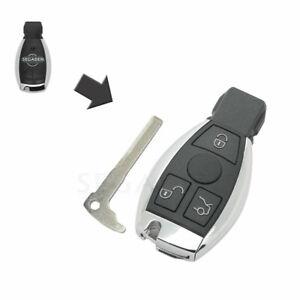 3 Button Modified Remote Key Shell Case Uncut fit for MERCEDES BENZ NEC Models