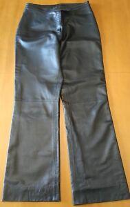 IVAN EMPOLI pantalone donna in vera pelle nera nappa taglia 46 nero nappato