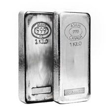 1 Kg Silver Bullion Bars Amp Rounds For Sale Ebay