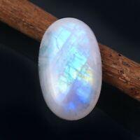 Natural ! Blue Flashy Rainbow Moonstone Cabochon Gemstone Loose Jewelry 7.15 Ct ! Rainbow Moonstone Cabochon Loose Gemstone ! ZS 3886