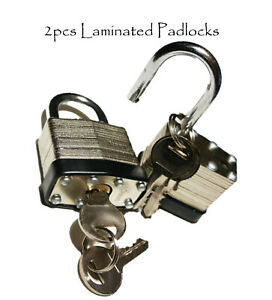 2PCS 40mm  Laminated Padlock Weather Proof Keyed Alike Heavy Duty Door Gate Lock