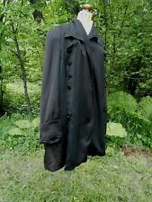 "Vintage 1900's Edwardian FROCK COAT Great Details B up to 44"" worn open"