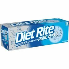 Diet Rite Pure Zero Cola Soda Pop 12 Pack, 12 oz Cans ***FAST FREE SHIPPING*