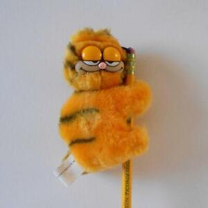 Vintage Garfield Pencil Topper Plush Gripper Clip Stuffed Animal 1978