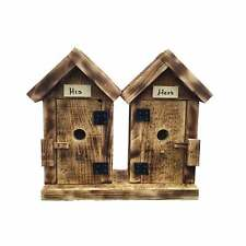 Burnt Pine His and Hers Bird Houses Brown