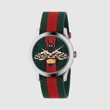 OROLOGIO GUCCI G-TIMELESS YA1264060 WATCH NYLON APE ROSSO VERDE 2018