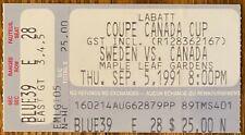 canada cup sept 5 1991 canada vs sweden 4-1 GRETZKY hurt sat out big game!!