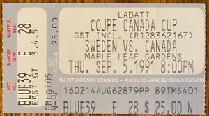 canada cup sept 5 1991 canada vs sweden 4-1 GRETZKY hurt sat out big game!!