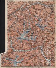 TYROL/ UPPER INNTHAL ÖTZTHALER ORTLER STUBAIER ALPEN topo-map. Austria 1899
