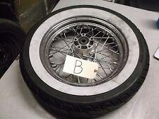 Harley Dunlop White Wall Tire/Rim D402 MU85B16 CRS5527-1 T16x3.00D 75R-0001740