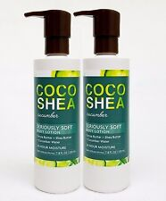 2 Bath & Body Works COCO SHEA CUCUMBER Seriously Soft Body Hand Lotion 24HR