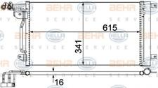 Kondensator, Klimaanlage für Klimaanlage HELLA 8FC 351 309-134