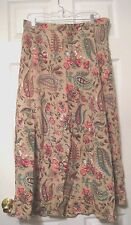 EAST 5TH PLUS SIZE 16W WOMEN'S SKIRT LONG Fully LINED A-LINE FLORAL