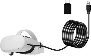 Seltureone 16ft /5m Replacement Oculus Link Cable Compatible for Oculus Quest 2