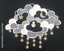 Plauen Lace ® Window Picture Cloud Wood Figurine Angel Star Christmas Decoration NEW