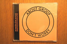 """ABOUT GROUP - """"Don't Worry"""" Promo CD in cd single case.  hot chip spiritualized"""
