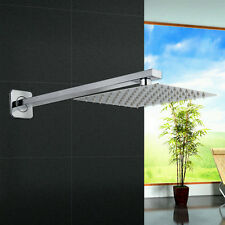 "Modern Bath 400mm Shower Head Arm And 8"" Ultra Thin Top Spary Wall Mounted"