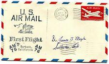 Southwest Airways First Flight Burbank California - Los Angeles California 1955