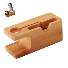 Craft Bamboo Multi Device Charging Station Holder For Apple Watch 38/42mm iPhone