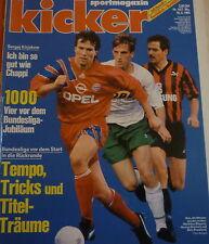 Kicker 14/1993 , Werder Bremen , Eintracht Frankfurt