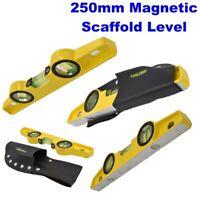 Aluminium Magnetic Scaffold Level 250mm Heavy Duty Cast Spirit Levels LV048