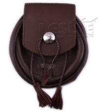Mens Real Leather Sporrans color BROWN, LI-SCO-0057