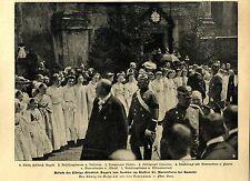 König Friedrich August v.Sachsen im Kloster St.Marienstern bei Kamenz c.1905