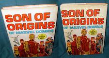 MARVEL FIRESIDE: SON OF ORIGINS OF MARVEL, HARDCOVER, HC, FIRST PRINTING, 1975