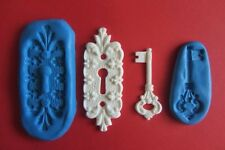 KEYHOLE AND KEY MOULDS Sugarcraft Cake Topper Fimo Cernit Cupcake Fimo Soap